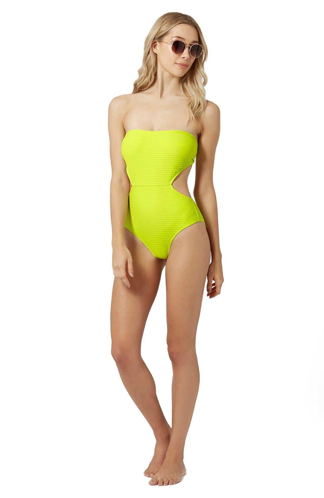 Alternate Image 4  - Topshop 'Sophs' Bandeau Cutout One-Piece Swimsuit
