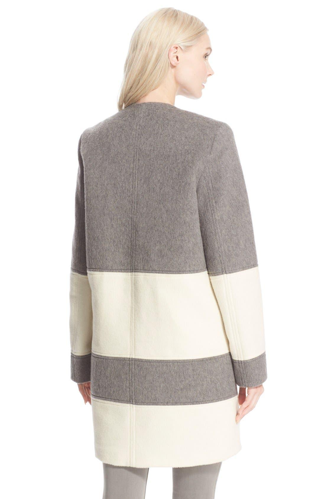 Alternate Image 2  - Parker 'Hurley' BlanketStripe Wool Coat