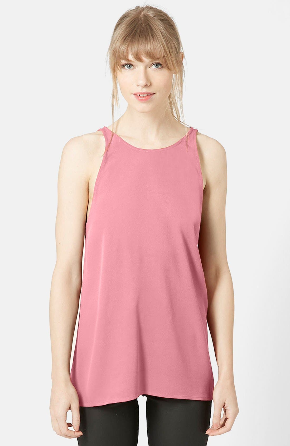 Alternate Image 1 Selected - Topshop 'Milo' Split Back Sleeveless Top (Nordstrom Exclusive)