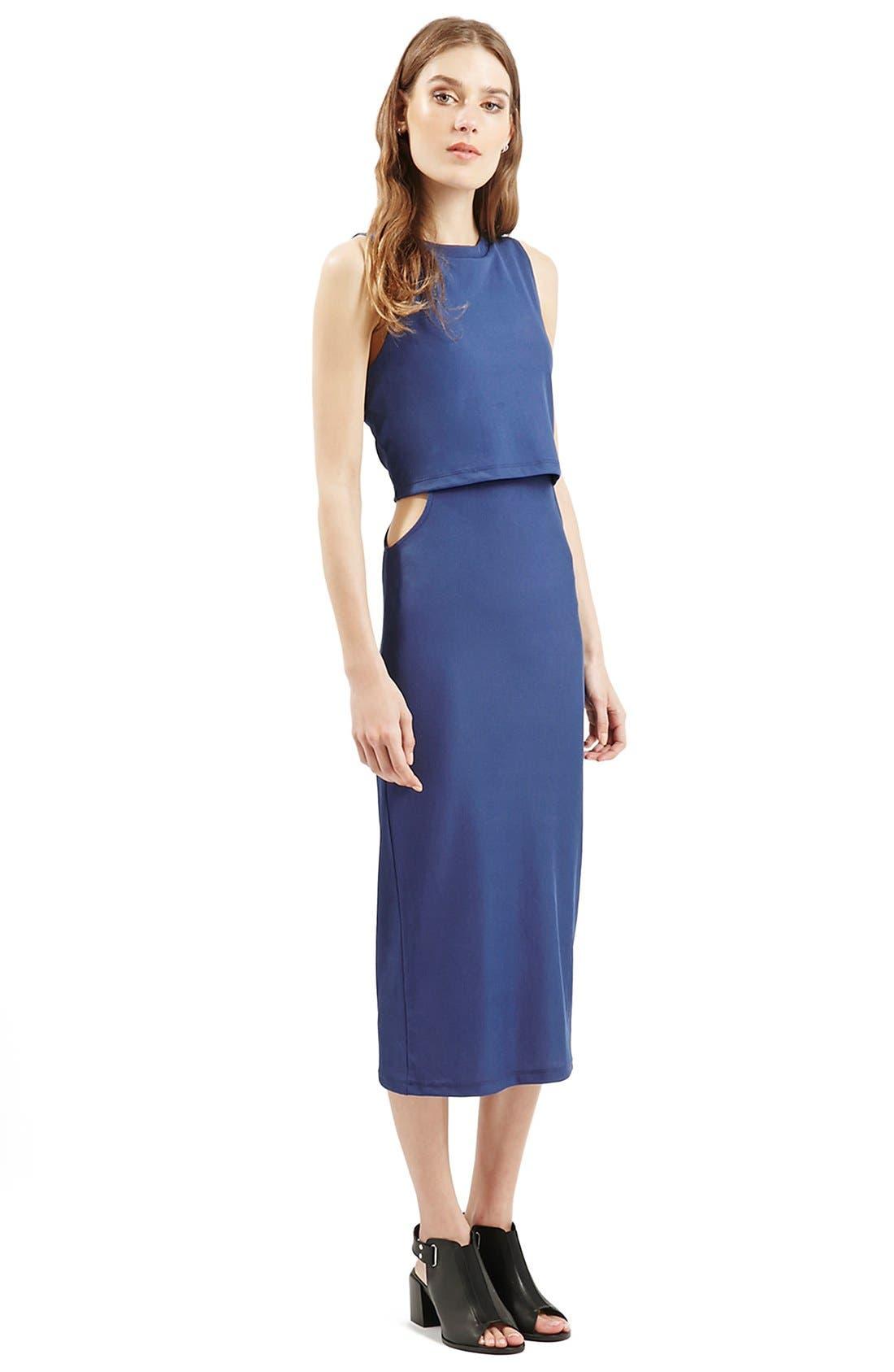 Alternate Image 7  - Topshop Sleeveless Cutout Midi Dress