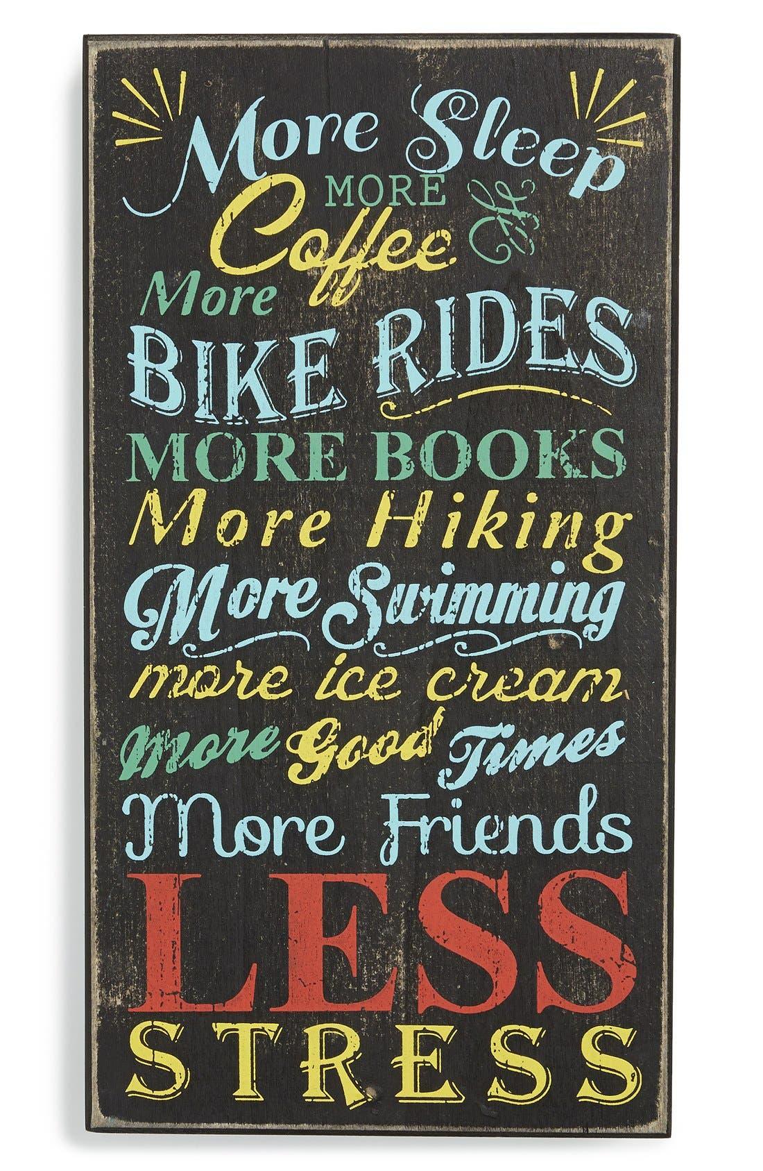 Main Image - Primitives by Kathy 'Less Stress' Wood Box Sign