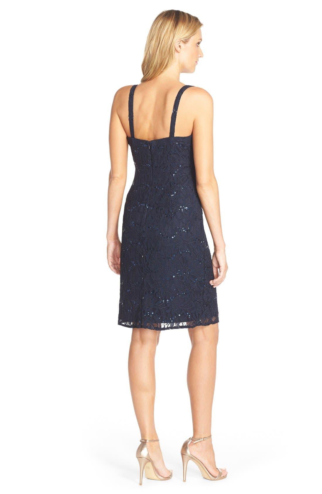 Alternate Image 2  - JS Collections Embellished Lace Dress & Jacket