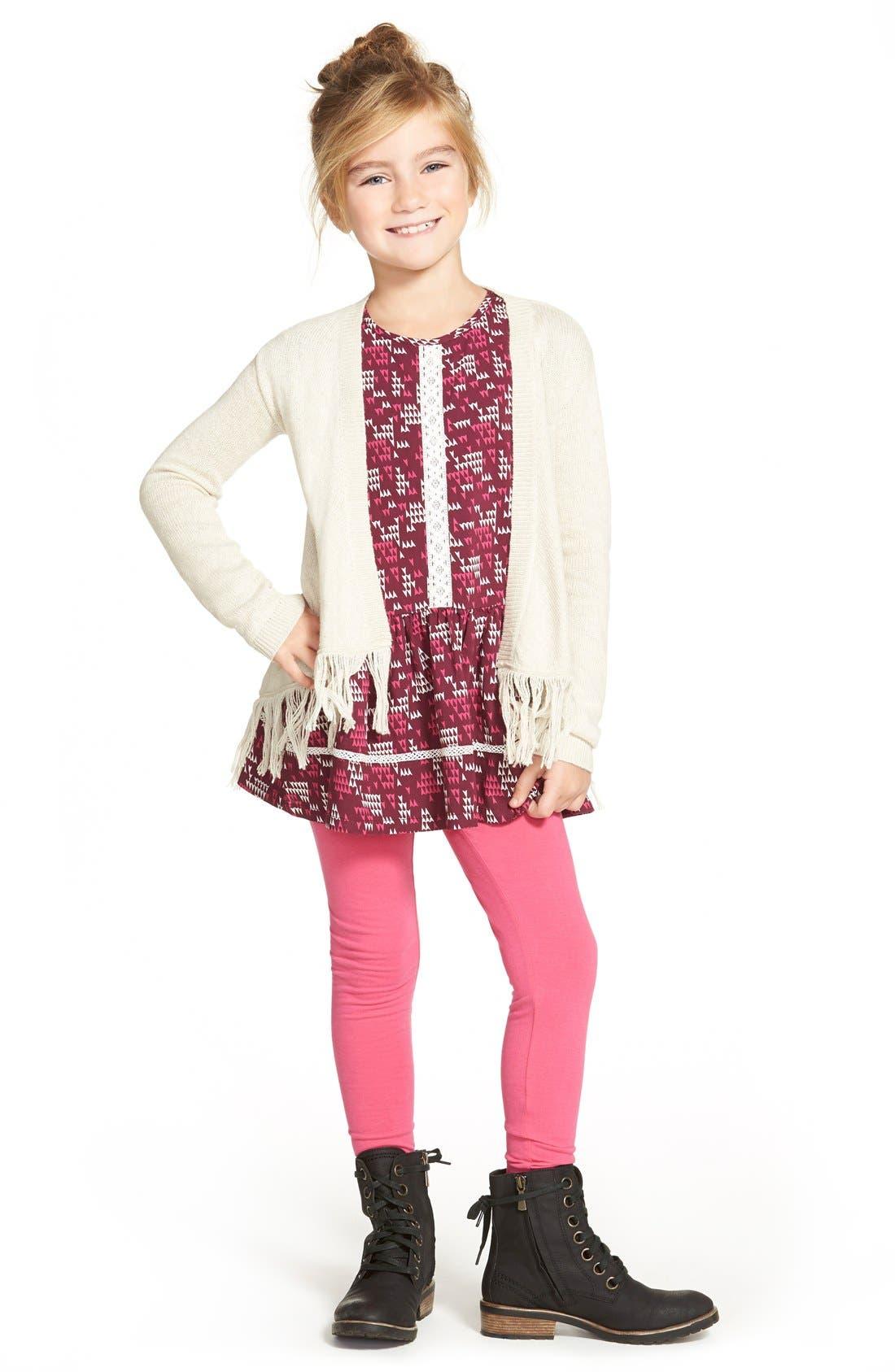 Alternate Image 1 Selected - Tucker + Tate Crochet Trim WovenTunic Top (Toddler Girls, Little Girls & Big Girls)