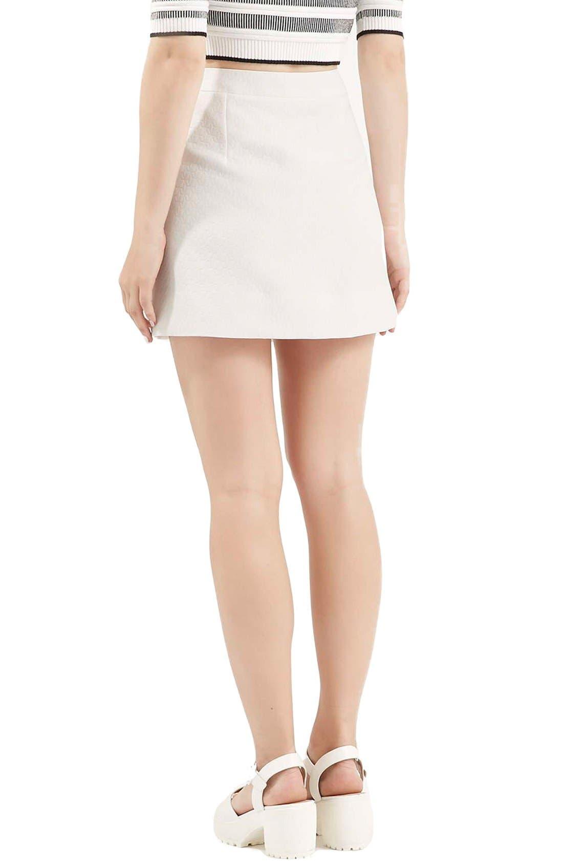 Alternate Image 3  - Topshop Geo Texture Miniskirt