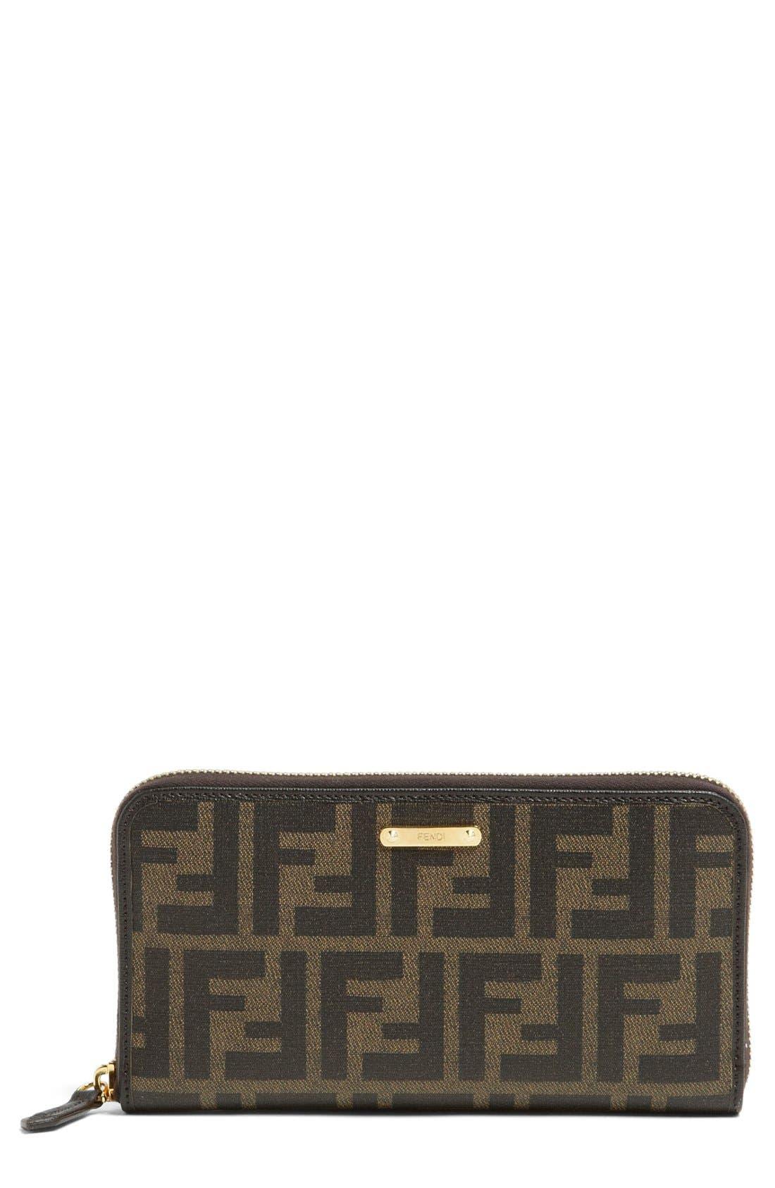 Alternate Image 1 Selected - Fendi 'Zucca' Wallet