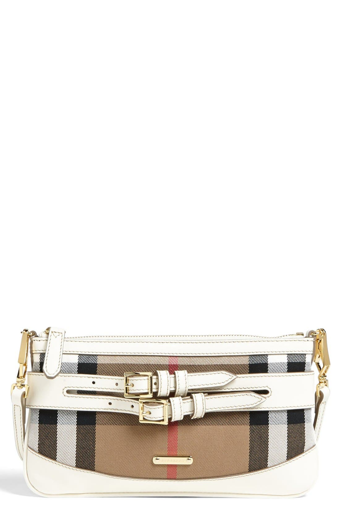 Alternate Image 1 Selected - Burberry 'House Check' Crossbody Clutch