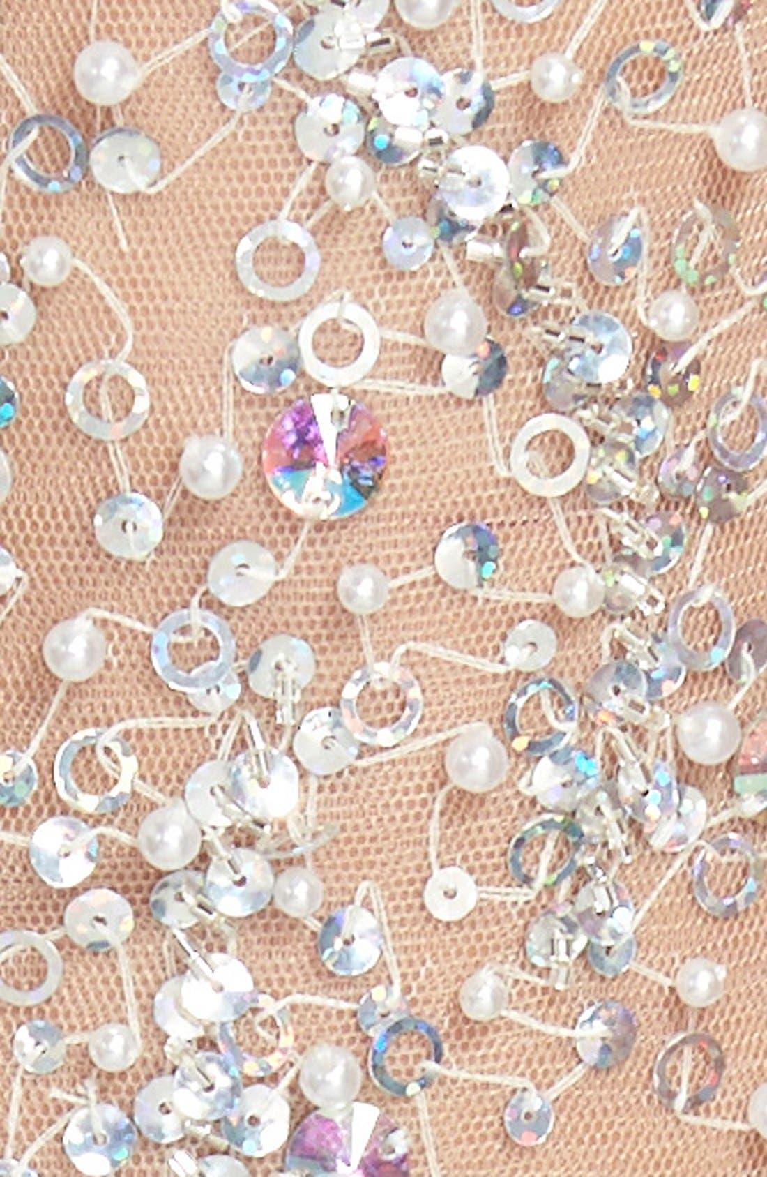 Alternate Image 4  - Sean Collection Embellished Mesh & Jersey Minidress