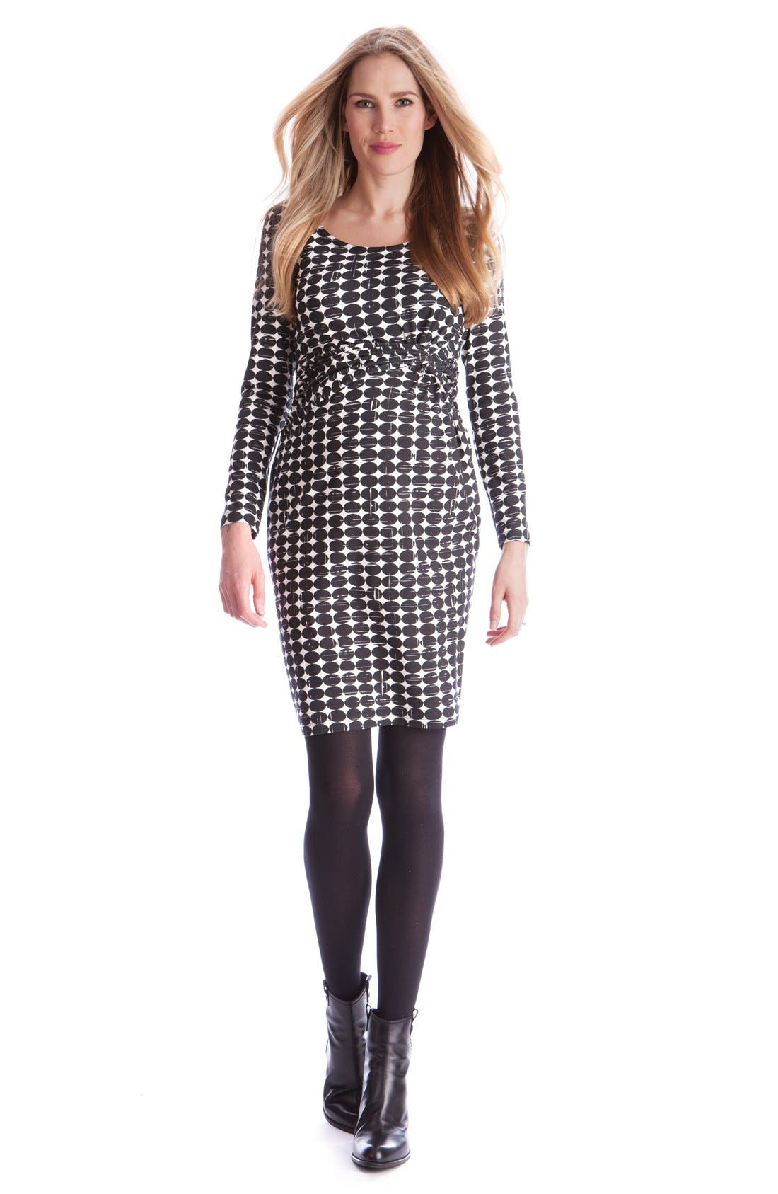 Seraphine 'Audrina' Circle Print Maternity Dress