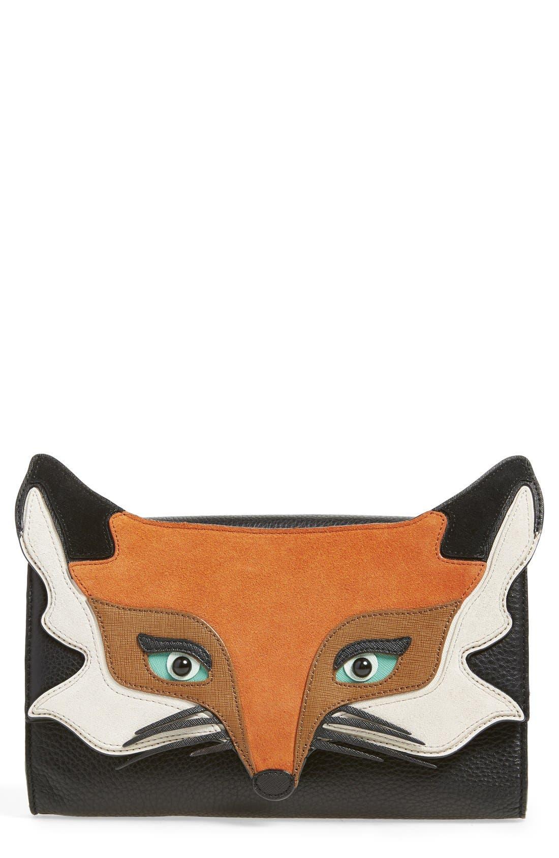 Alternate Image 1 Selected - kate spade new york'blaze a trail - fox' clutch