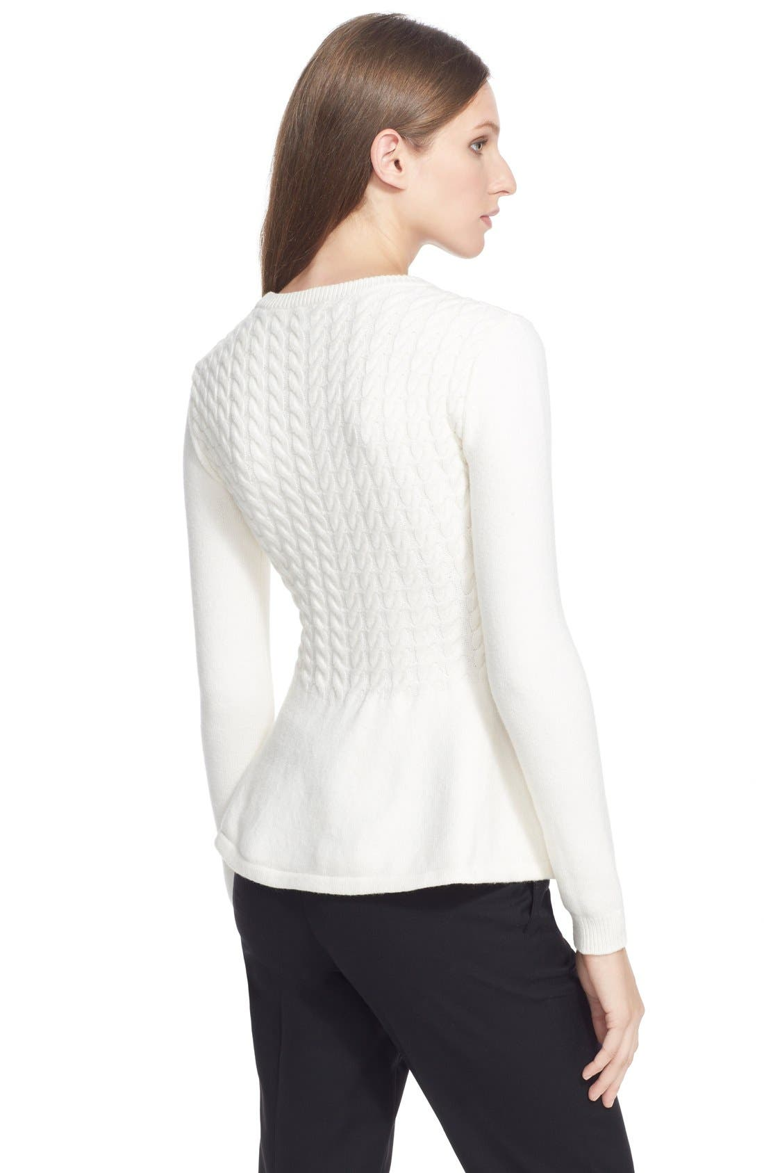 Alternate Image 2  - Ted Baker London 'Mereda' Cable Knit PeplumSweater