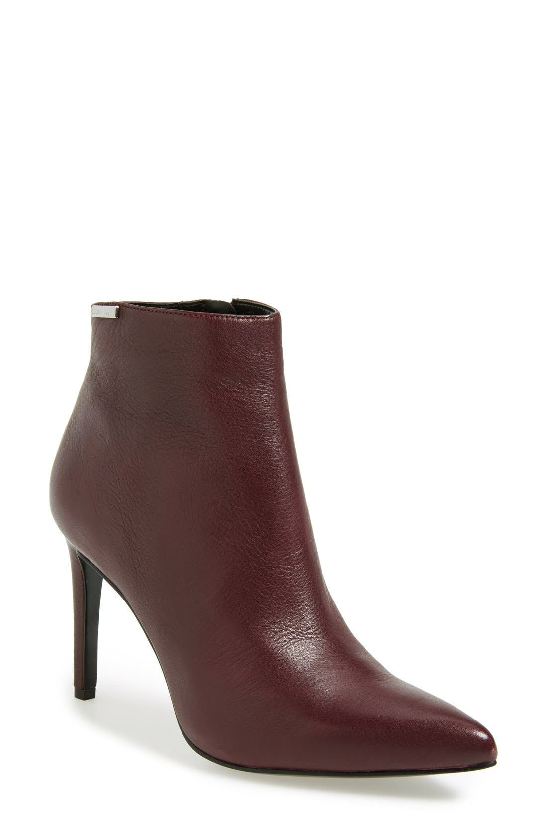 Alternate Image 1 Selected - Calvin Klein 'Clariss' Pointy Toe Bootie (Women)