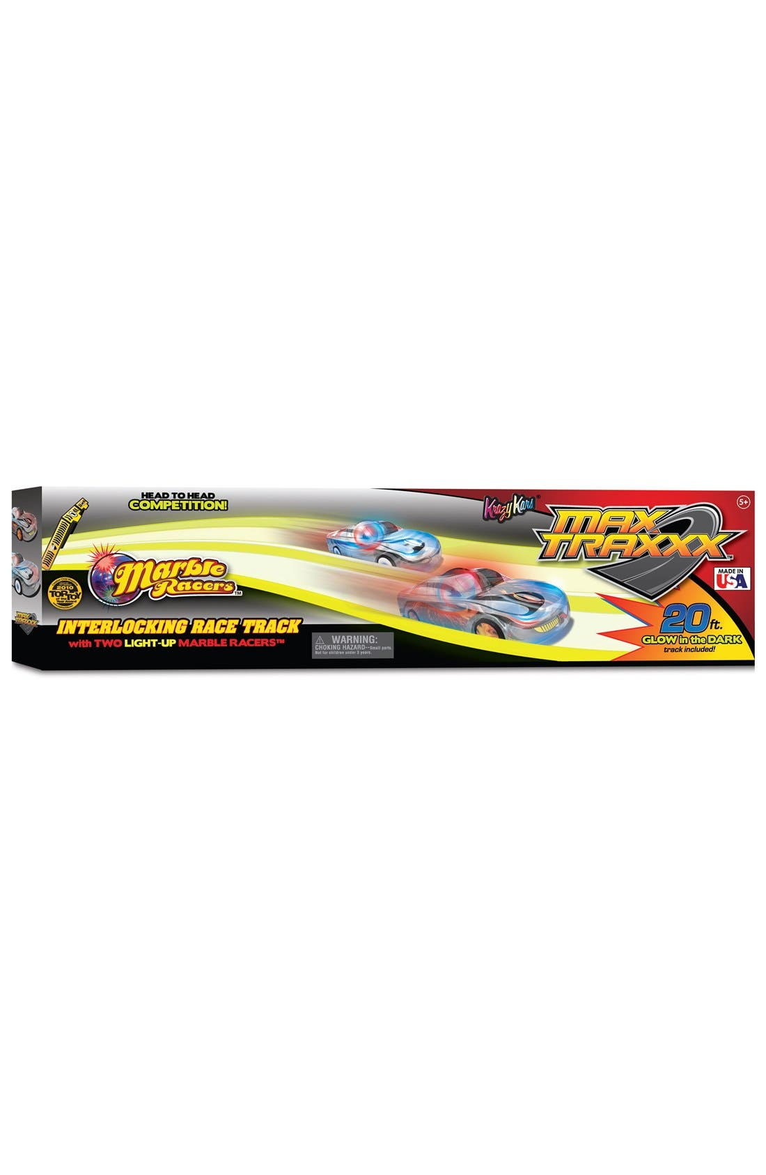 MAX TRAXXX Marble Racers Cars & Track Set