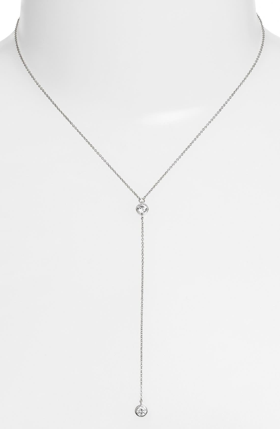 Main Image - Alainn Cubic Zirconia Lariat Necklace
