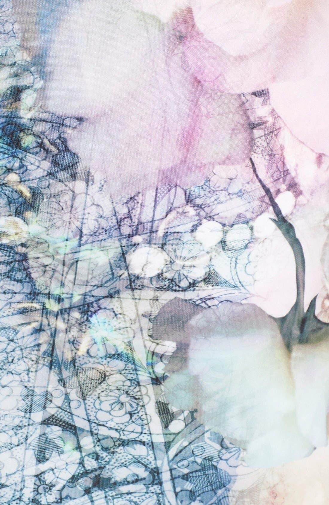 Alternate Image 3  - Ted Baker London 'Sinda' Print Midi Pencil Skirt