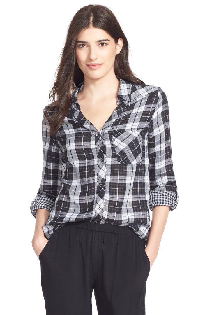 Soft joie 39 cydnee 39 plaid shirt nordstrom for Soft joie plaid shirt