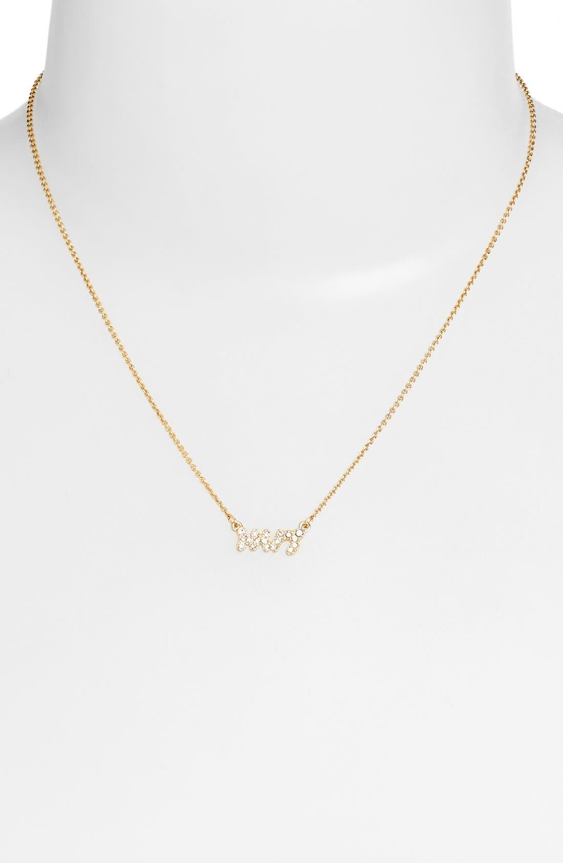 Alternate Image 2  - katespade new york'mrs' pavépendant necklace