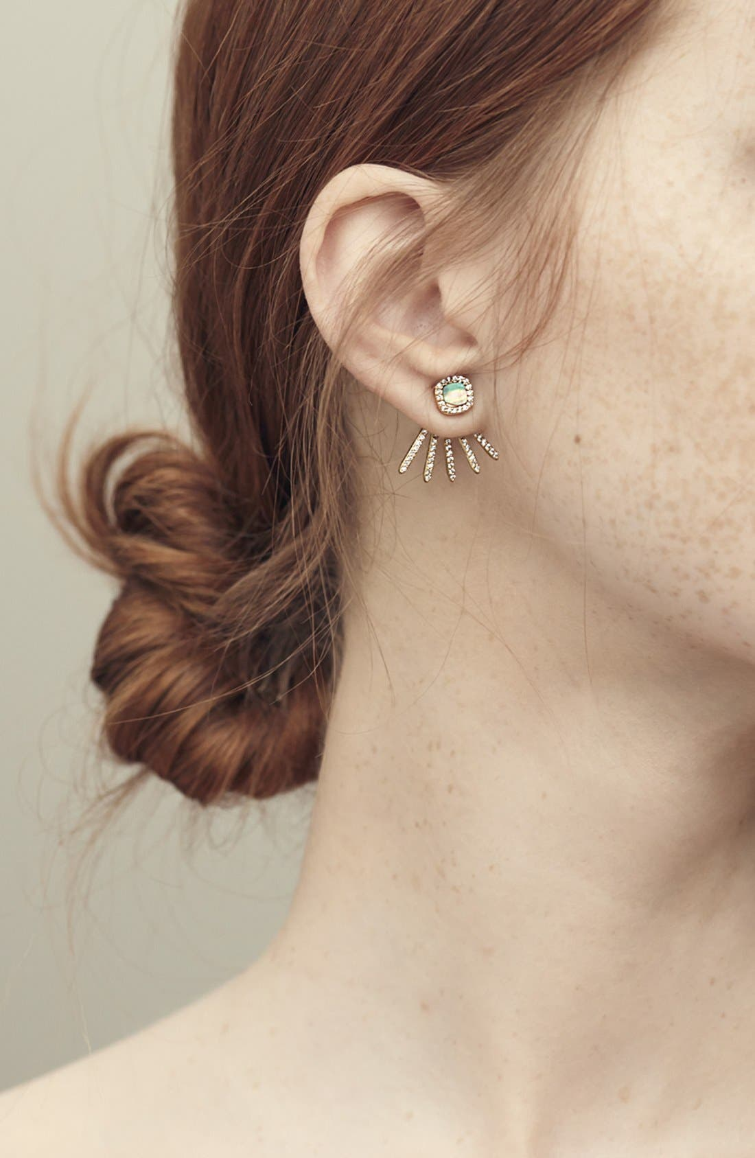 Alternate Image 3  - Melanie Auld Pavé Ear Jackets