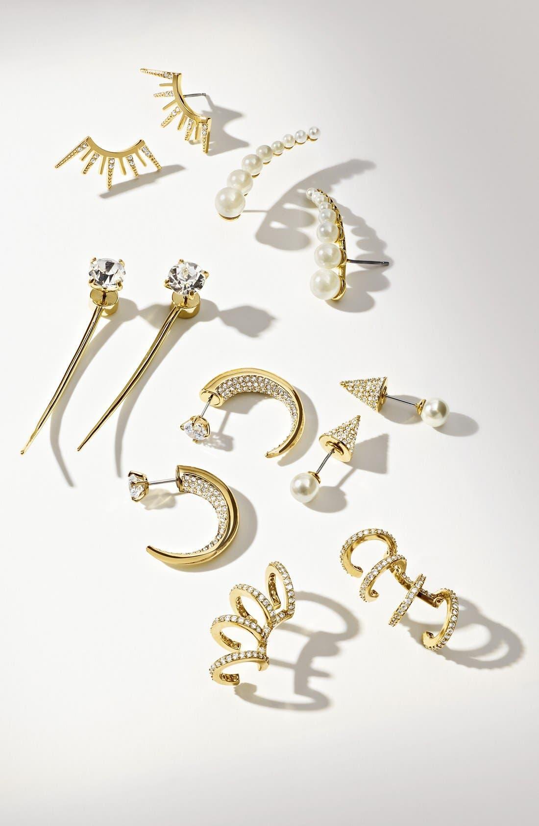 Alternate Image 2  - Covet Spike Linear Stud Earrings
