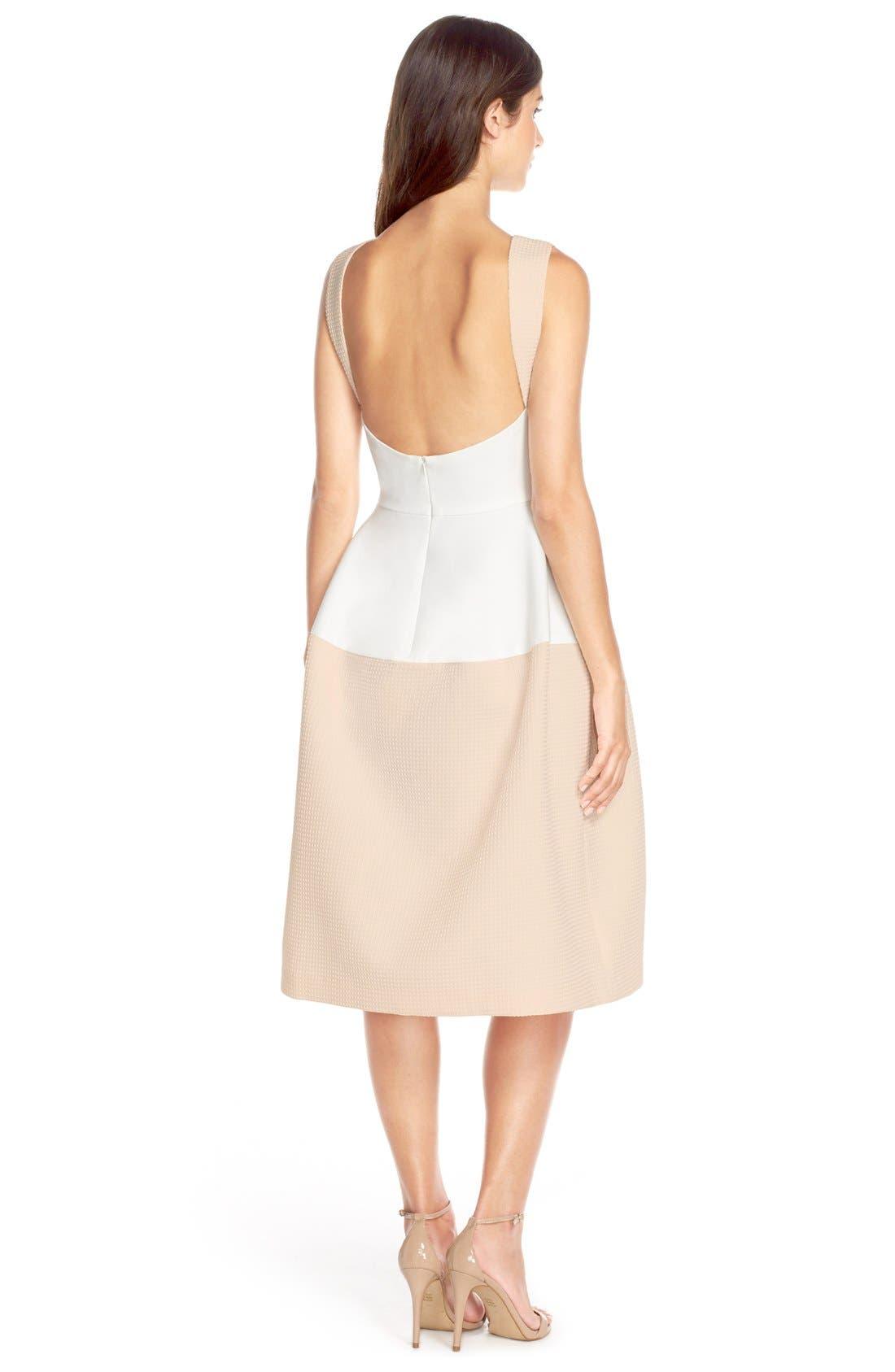 Alternate Image 2  - Elliatt'Perception' Texture PonteFit & Flare Dress