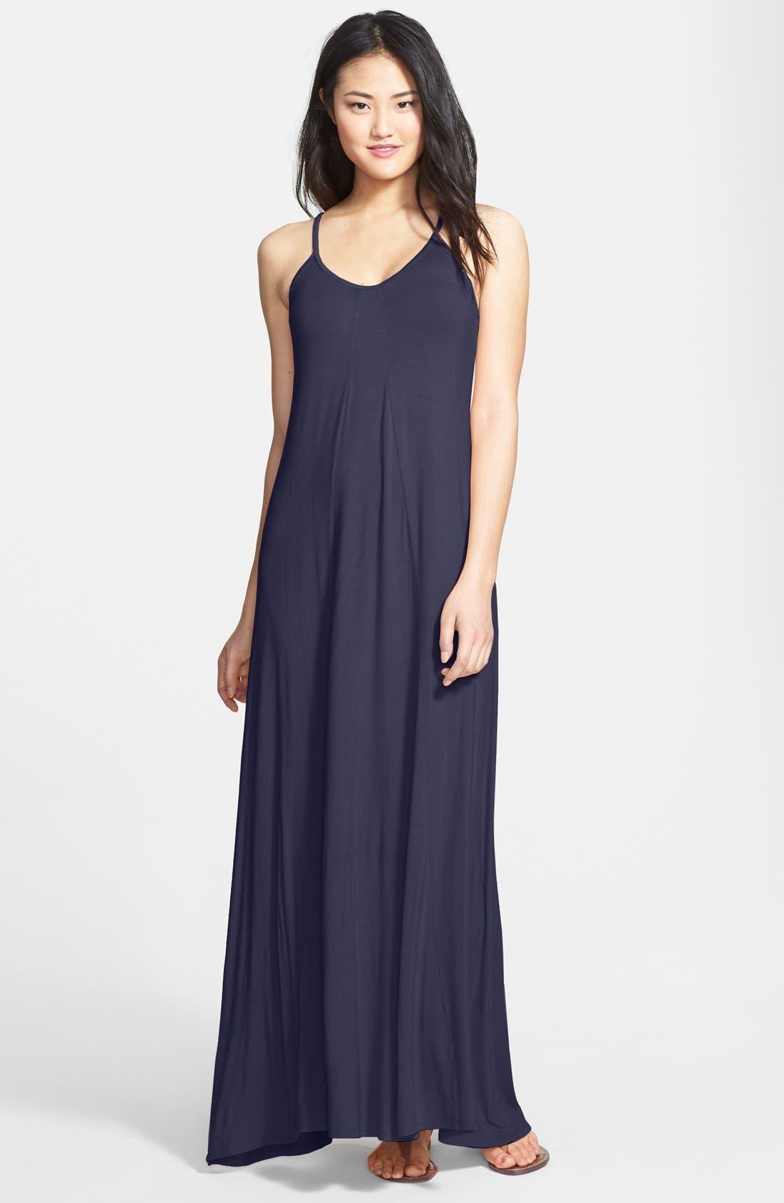 Alternate Image 1  - Loveappella Maxi Dress (Regular & Petite)