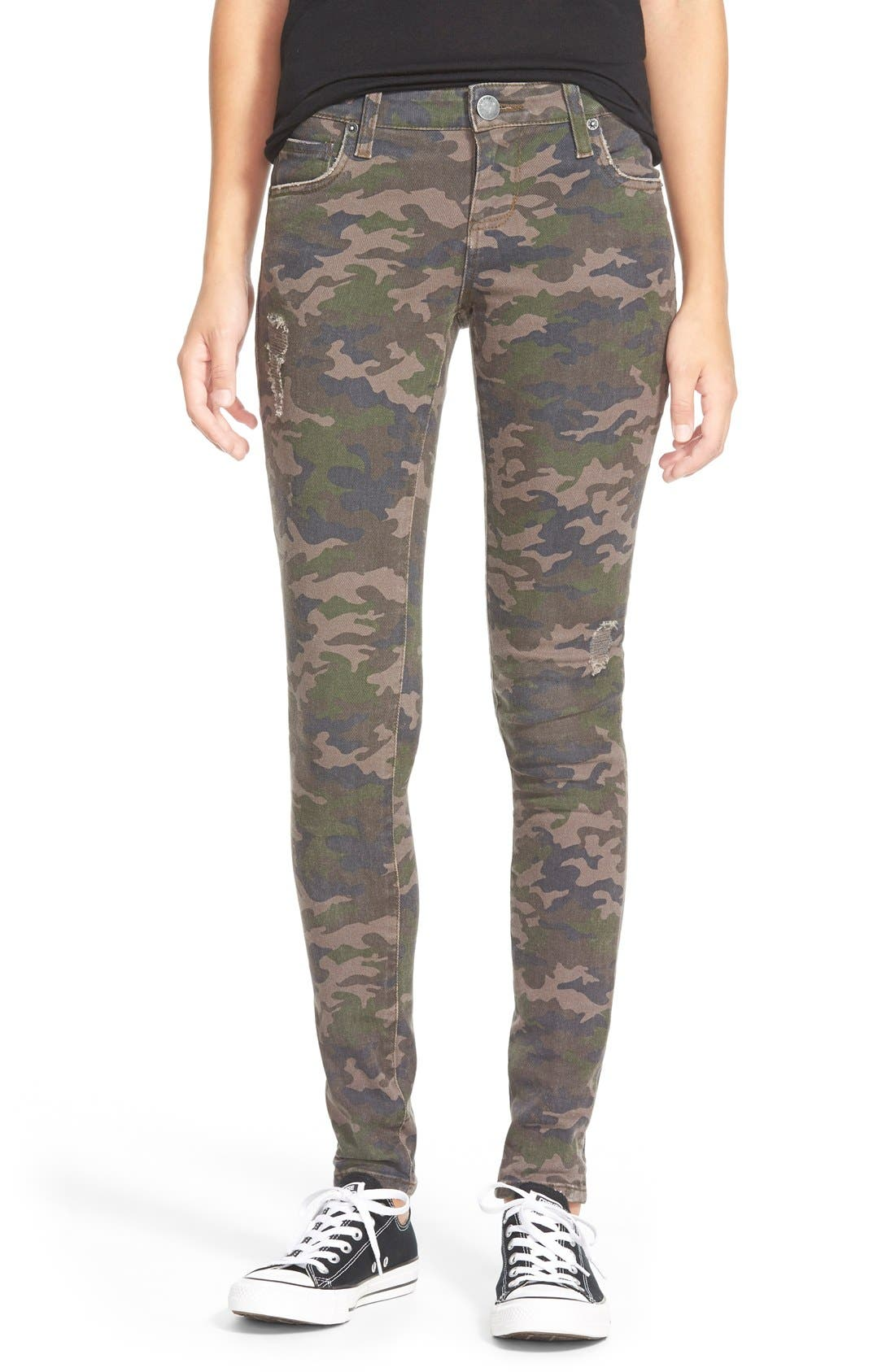 Alternate Image 1 Selected - STS Blue Camo 'Megan' Skinny Jeans