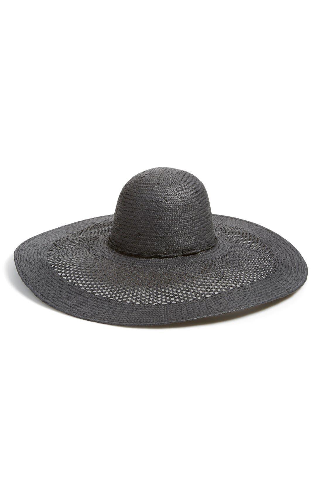 Main Image - Phase 3 Open Weave Floppy Straw Hat