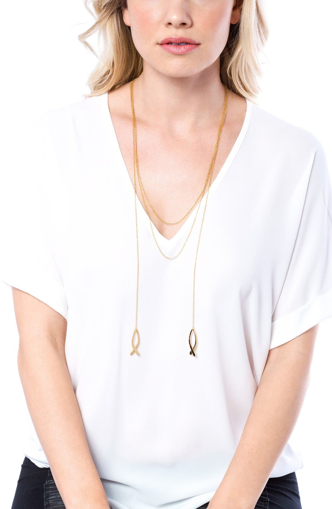 Alternate Image 5  - gorjana'Viola' Layered Pendant Necklace