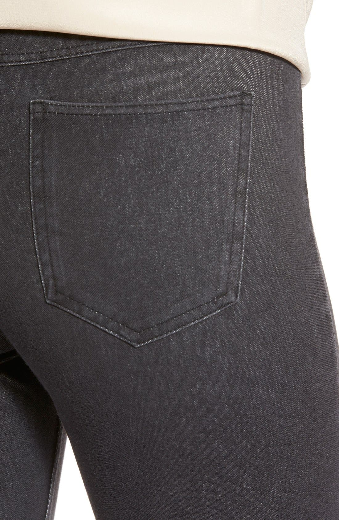 Alternate Image 4  - Hue Curvy Fit Jean Leggings