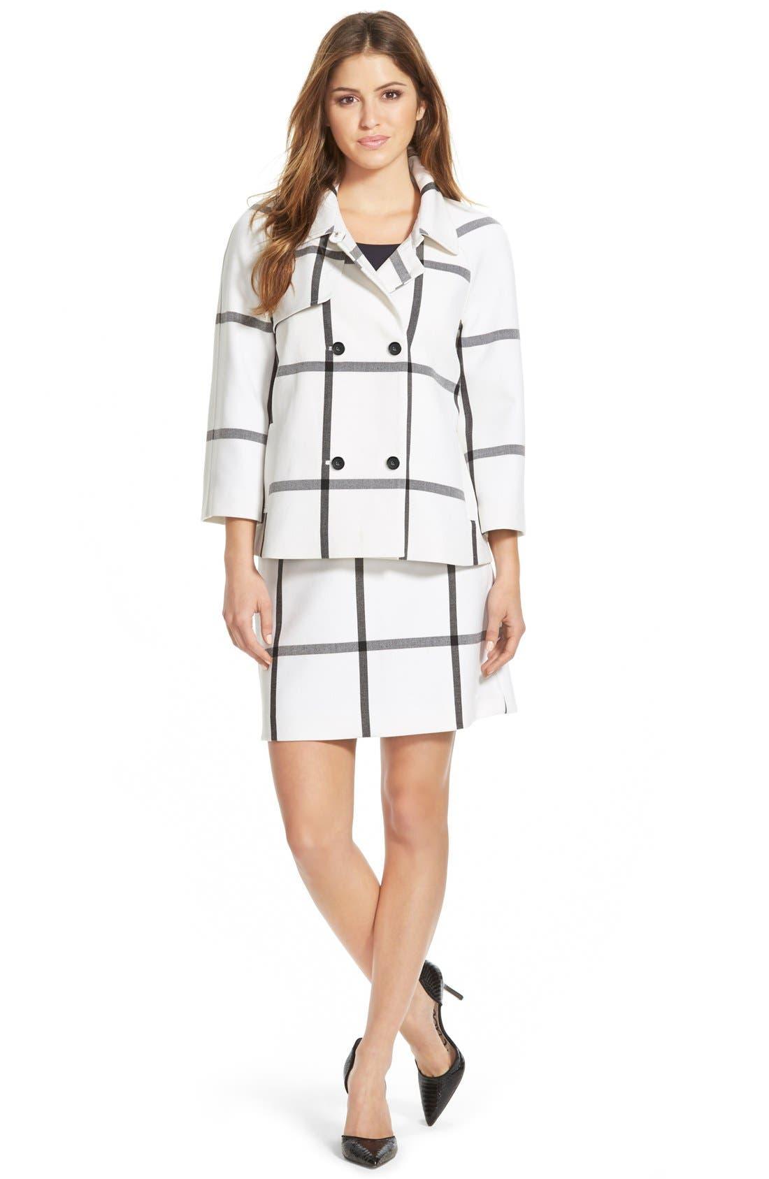 Alternate Image 2  - Halogen® Pleat Front A-Line Skirt