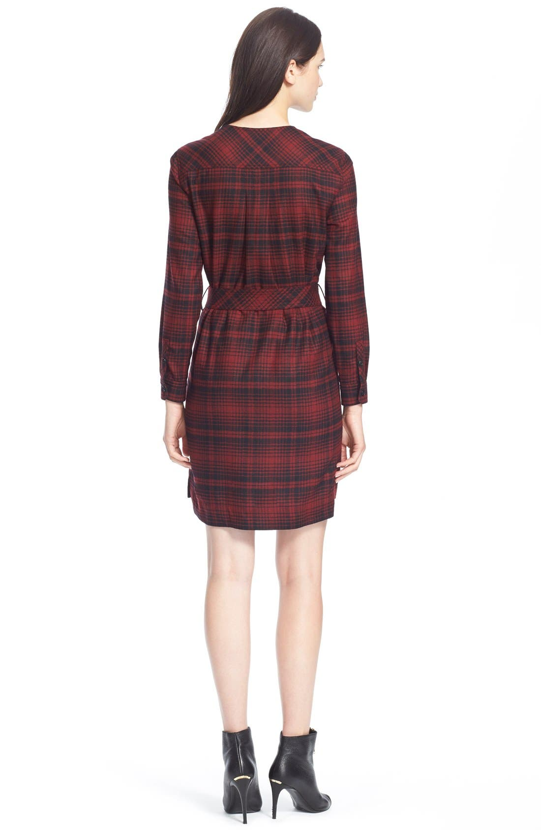 Alternate Image 2  - Burberry Brit 'Wilhelmina' Check Wool Shirtdress