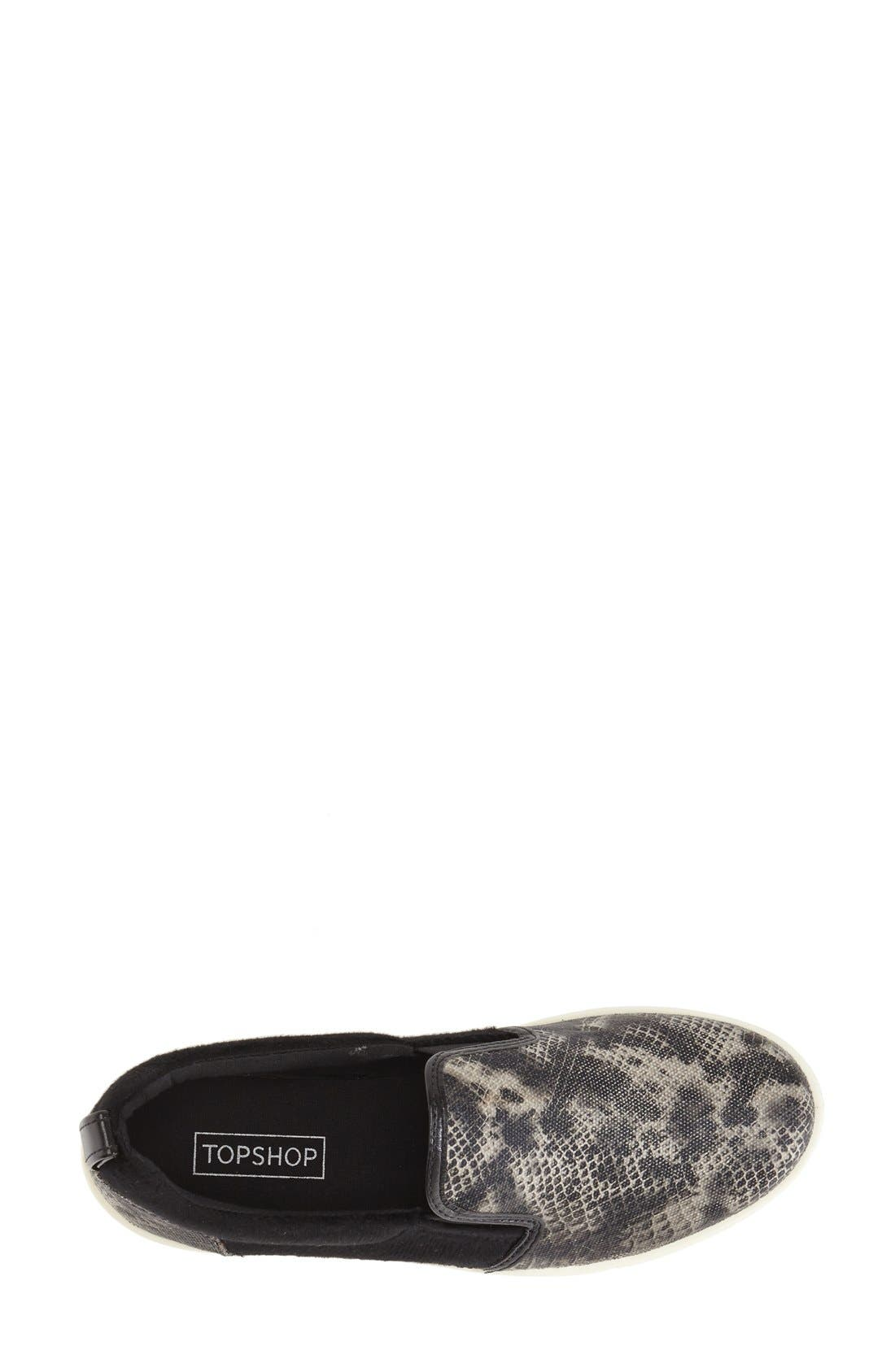 Alternate Image 3  - Topshop Print Slip-On (Women)