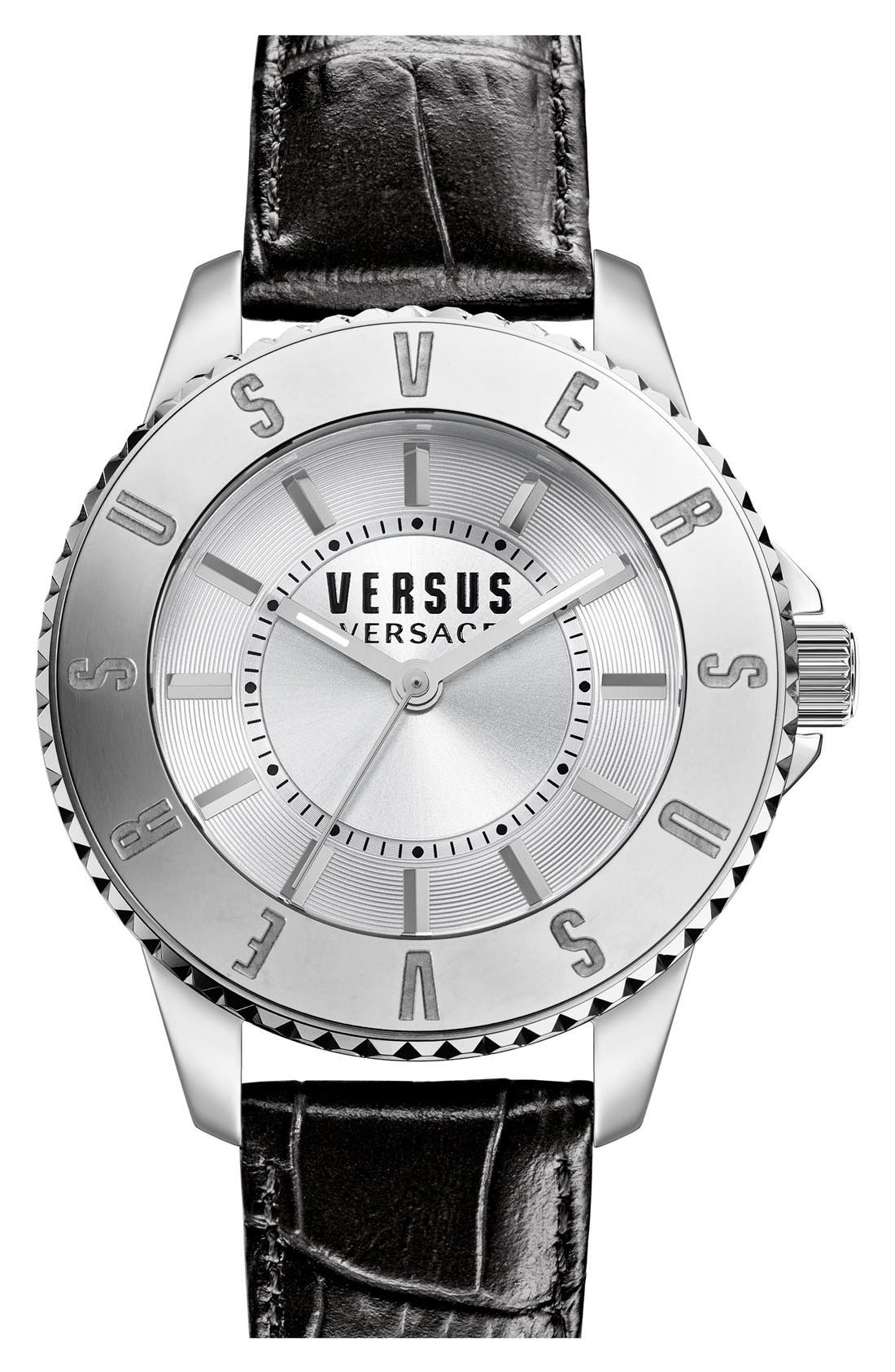 Alternate Image 1 Selected - VERSUS by Versace'Tokyo' Leather Strap Watch, 38mm