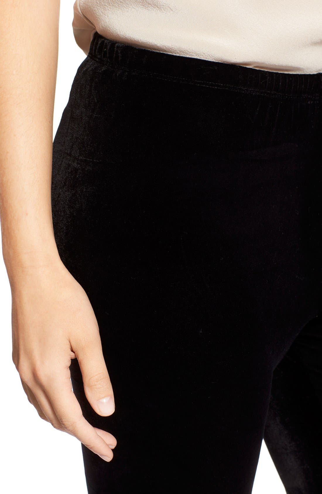 Alternate Image 5  - Eileen Fisher Stretch Velvet Leggings (Regular & Petite)