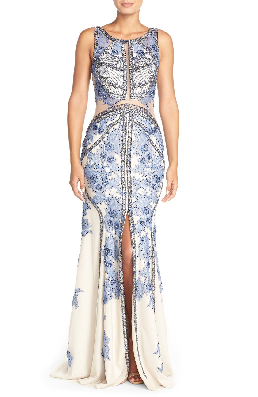 Alternate Image 1 Selected - TeraniCouture Embellished Sleeveless Gown