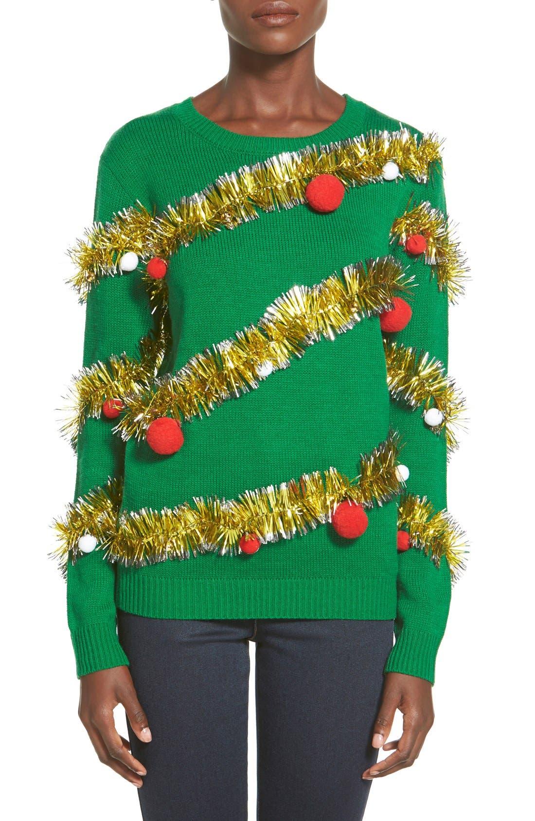Alternate Image 1 Selected - Ten Sixty Sherman Tinsel Ball Christmas Sweater
