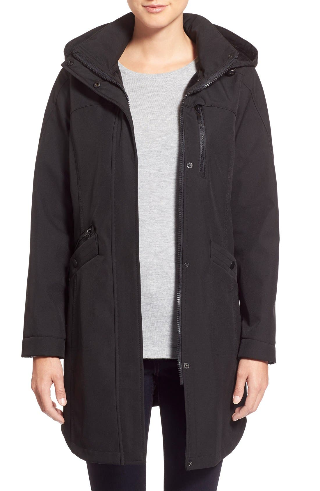 KRISTEN BLAKE Crossdye Hooded Soft Shell Jacket