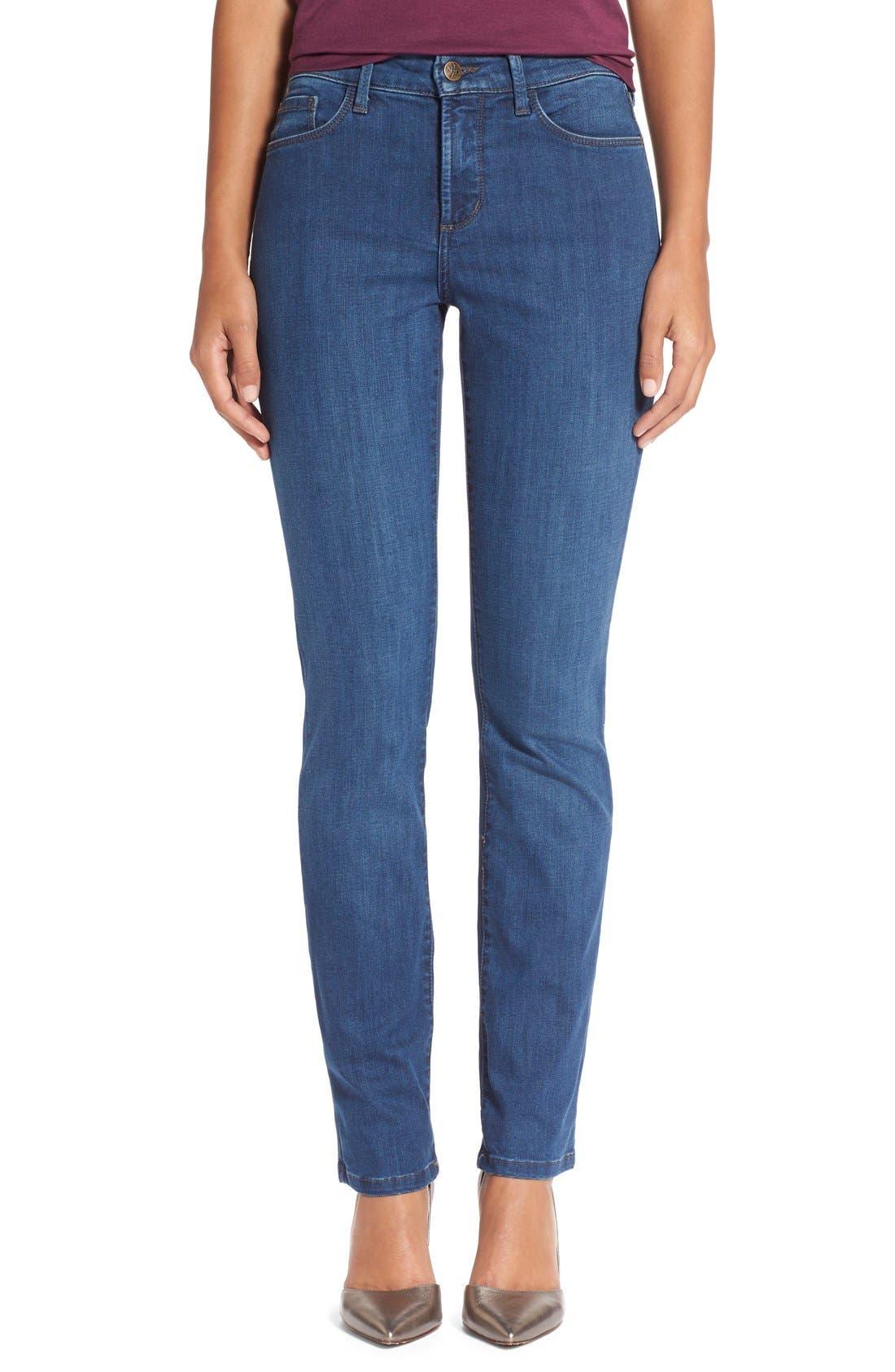 Main Image - NYDJ'Sheri' Stretch Skinny Jeans (Valencia)(Petite)