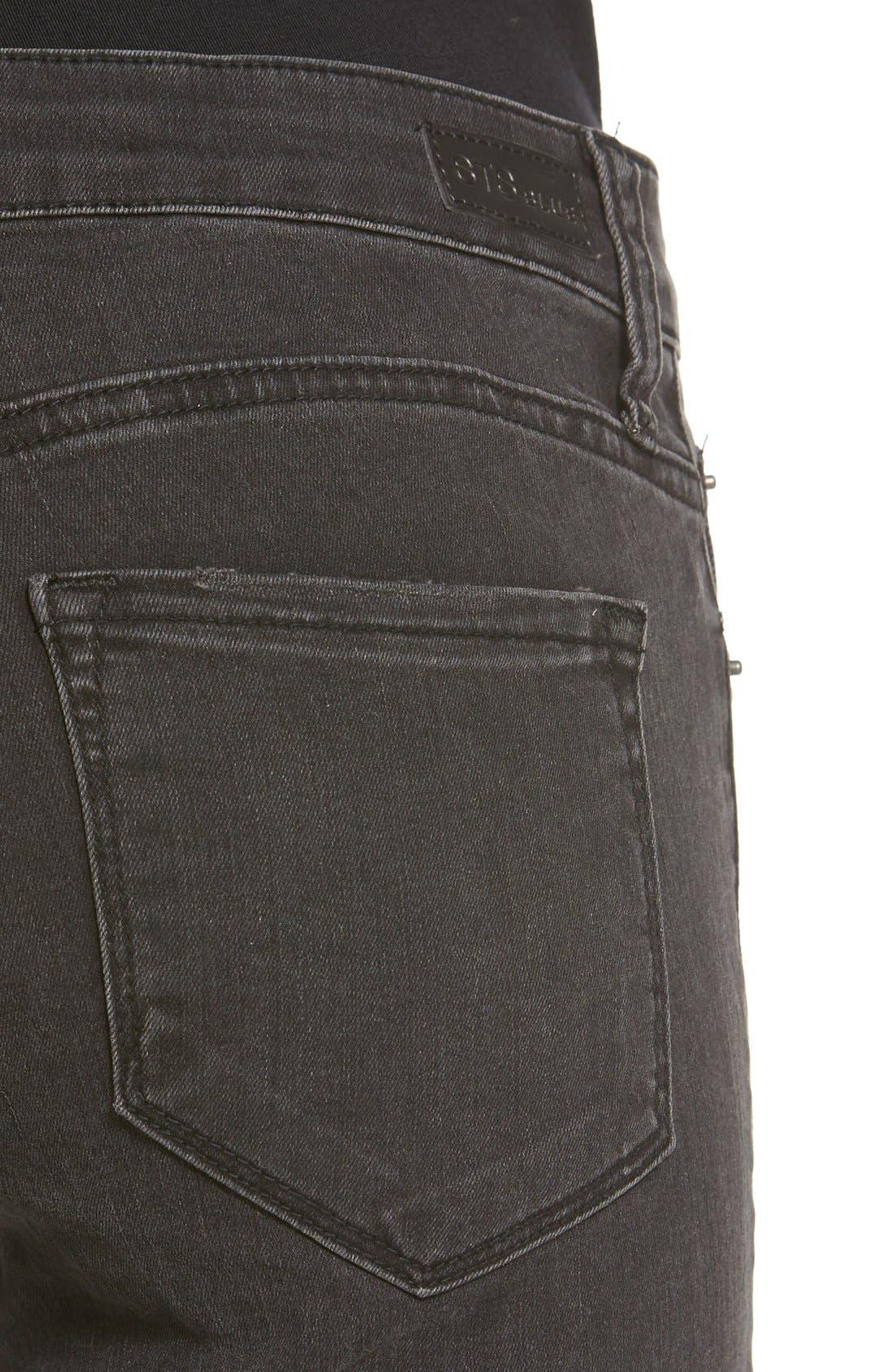 Alternate Image 4  - STSBlue 'Piper' Destroyed Skinny Jeans (Black)