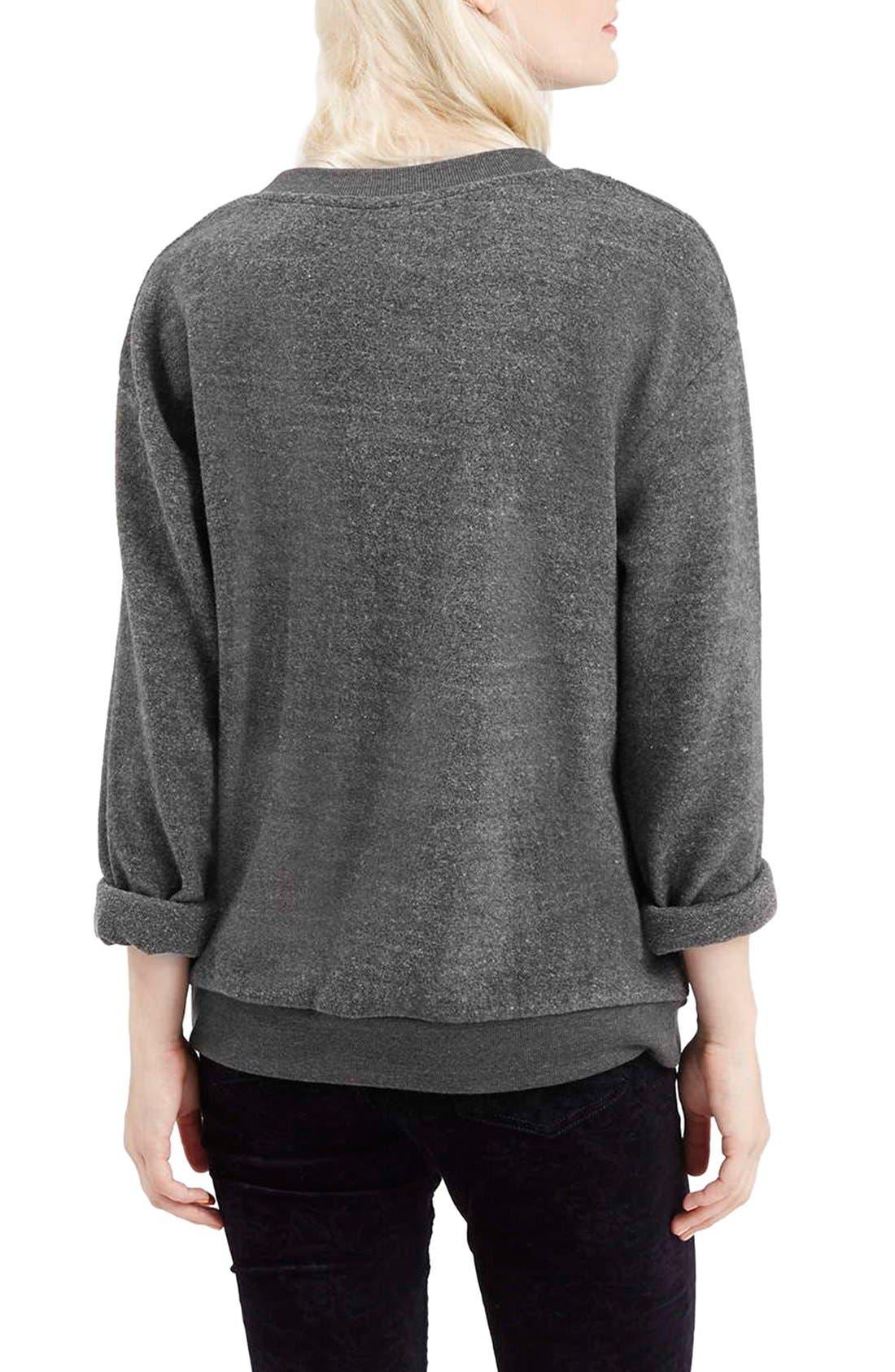 Alternate Image 3  - Topshop 'Austin, Texas' Crewneck Sweatshirt