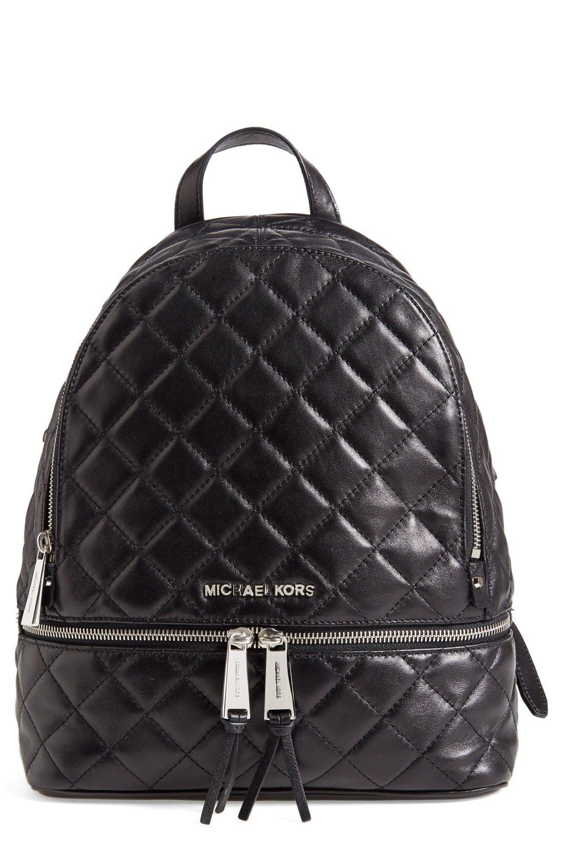 Main Image - MICHAEL Michael Kors 'Medium Rhea Zip' Quilted Backpack (Nordstrom Exclusive)