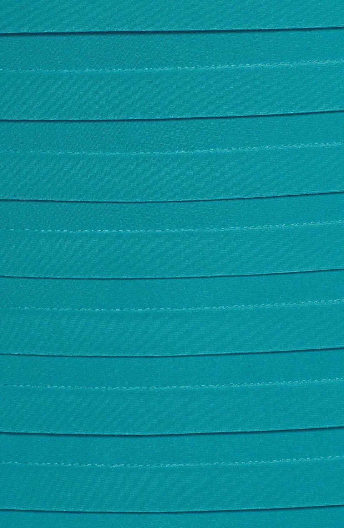 Alternate Image 6  - Adrianna Papell Illusion Bodice Pleated Jersey Sheath Dress (Regular & Petite)
