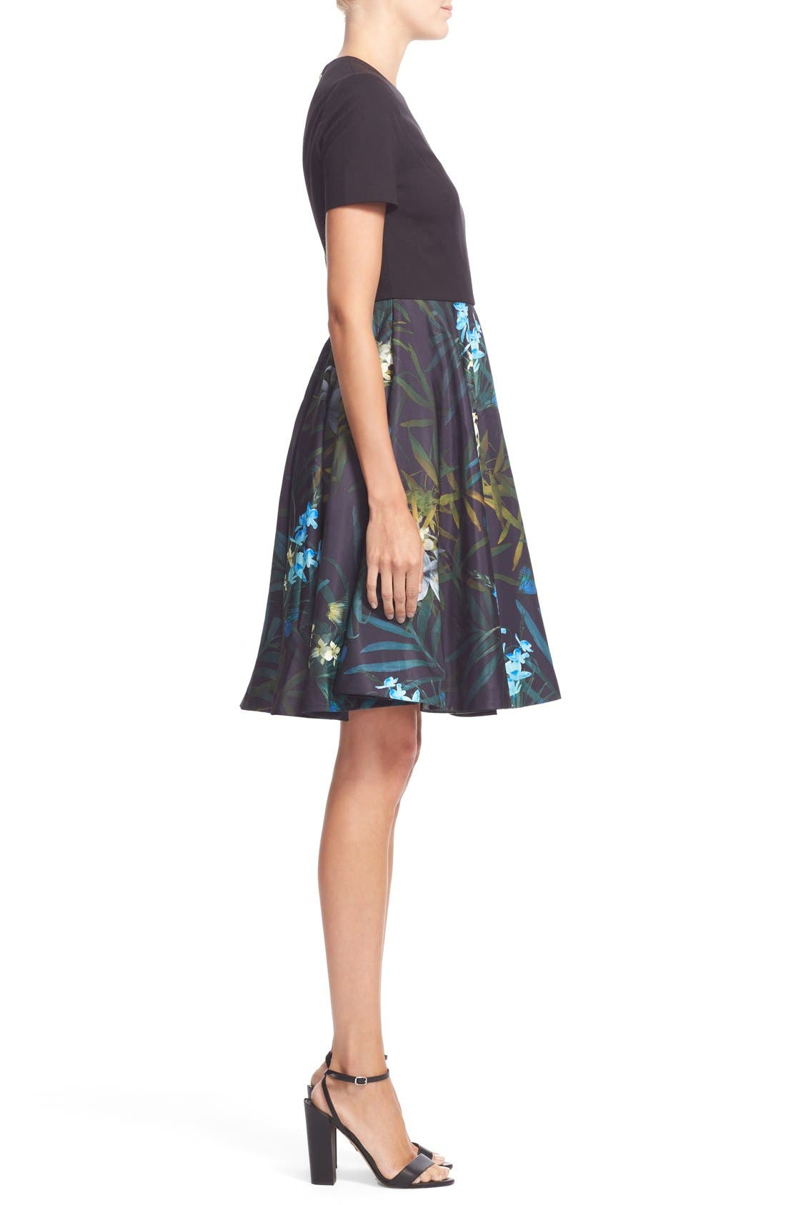 Alternate Image 3  - Ted Baker London 'Caprine' Twilight Floral Contrast Dress