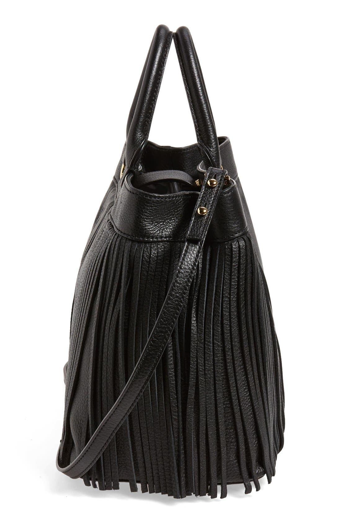 Alternate Image 5  - MillyFringed Leather Tote