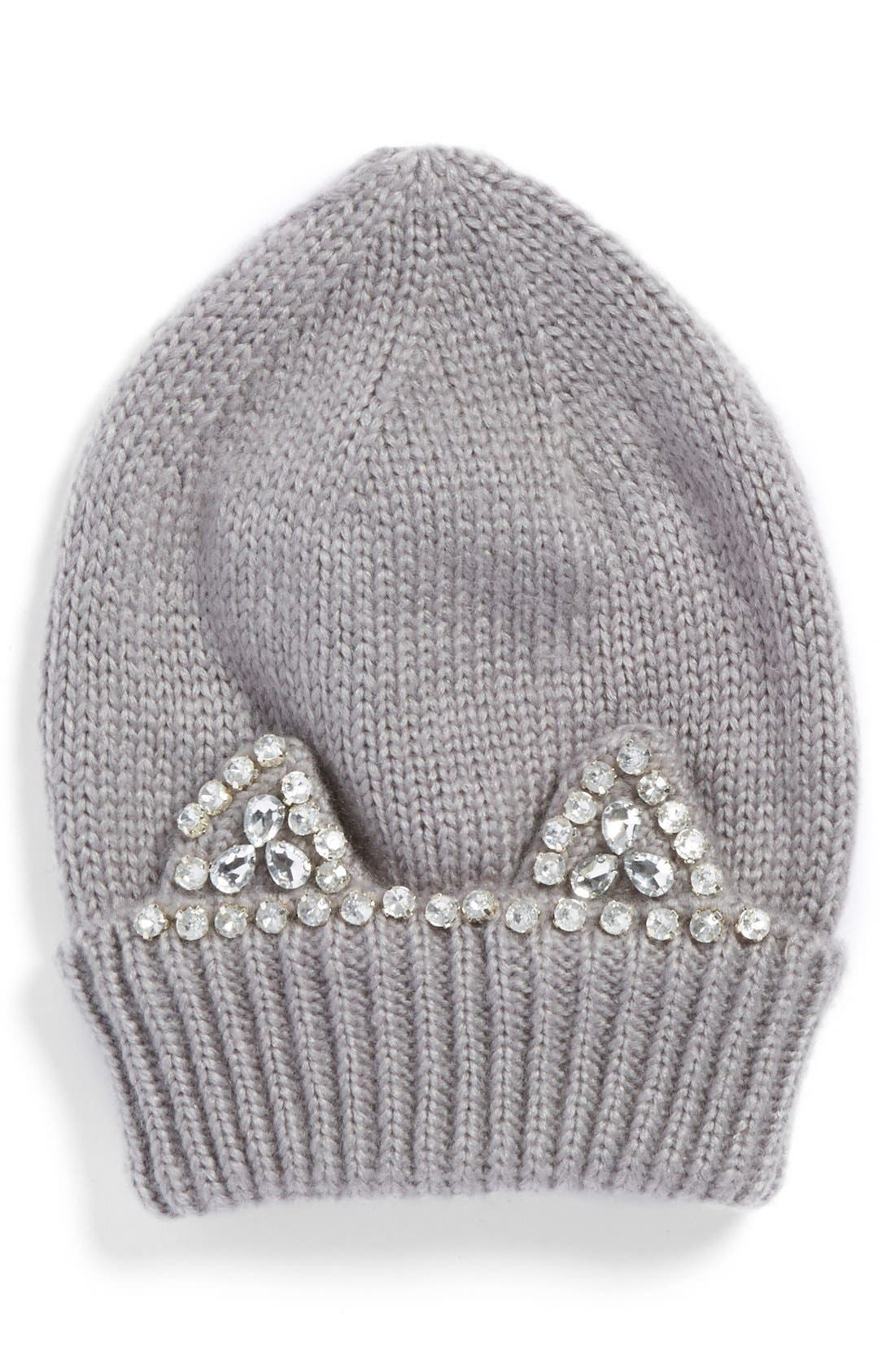 Alternate Image 1 Selected - Berry 'Jeweled Kitty' Beanie