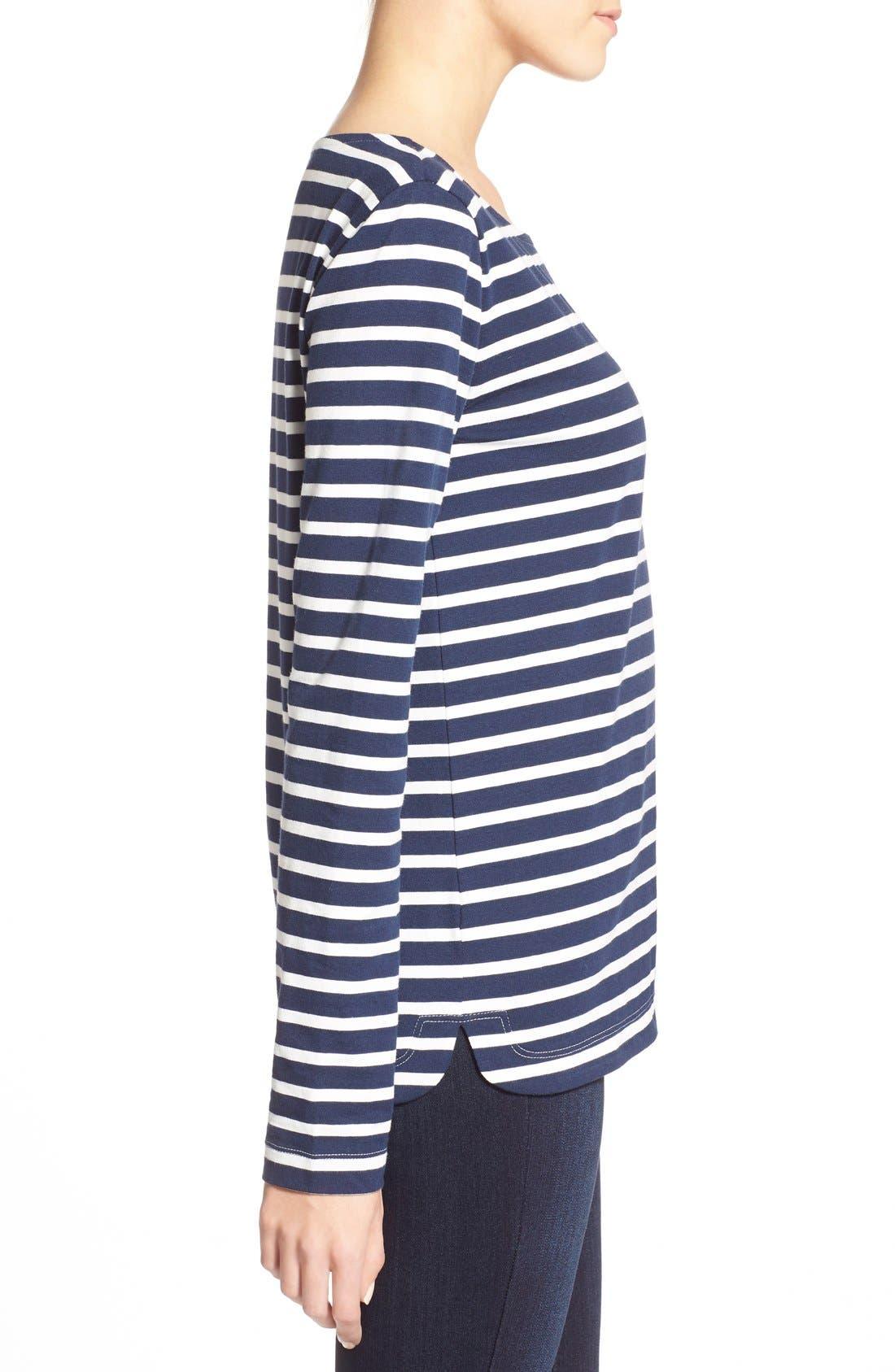Alternate Image 3  - Vineyard Vines Stripe Long Sleeve Knit Tee