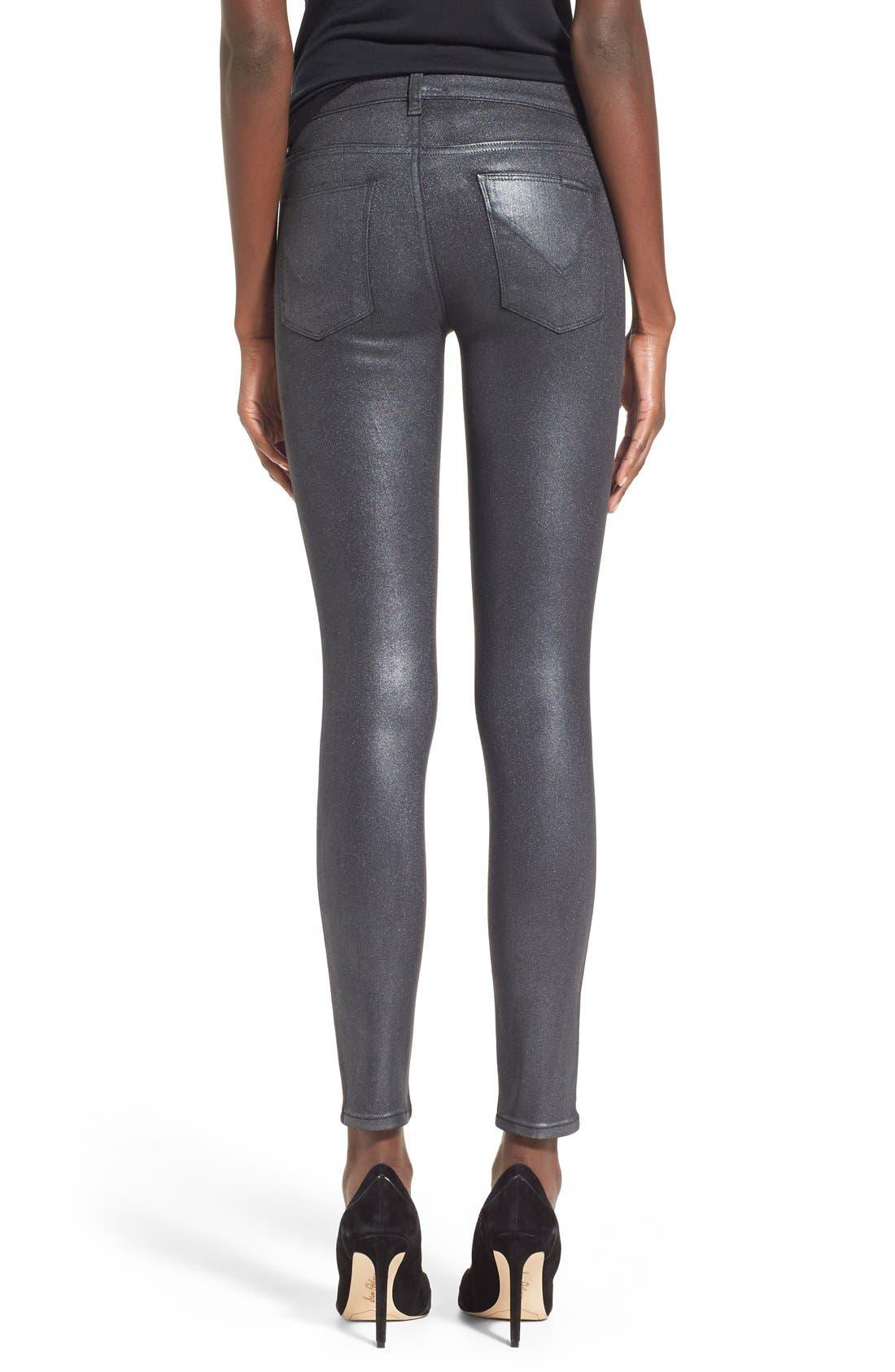 Alternate Image 2  - HudsonJeans Coated Super Skinny Jeans