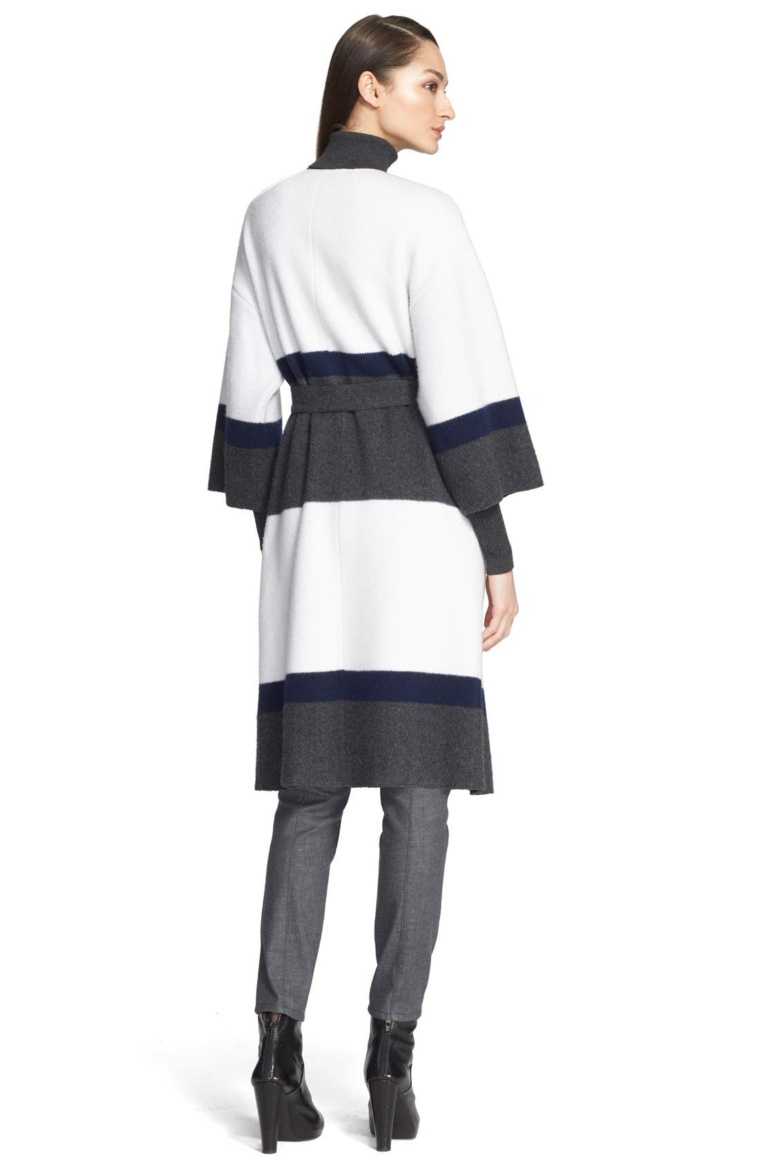 Alternate Image 2  - St. John Collection Felted Wool & Cashmere Coat