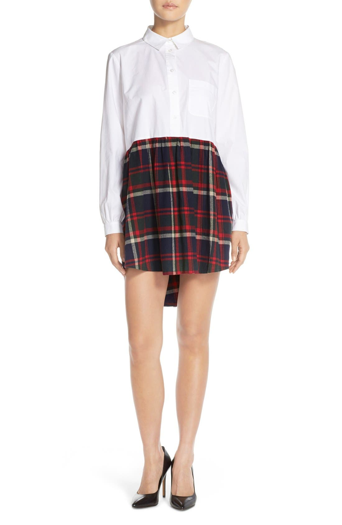 Alternate Image 1 Selected - French Connection Twofer Cotton Plaid Shirtdress