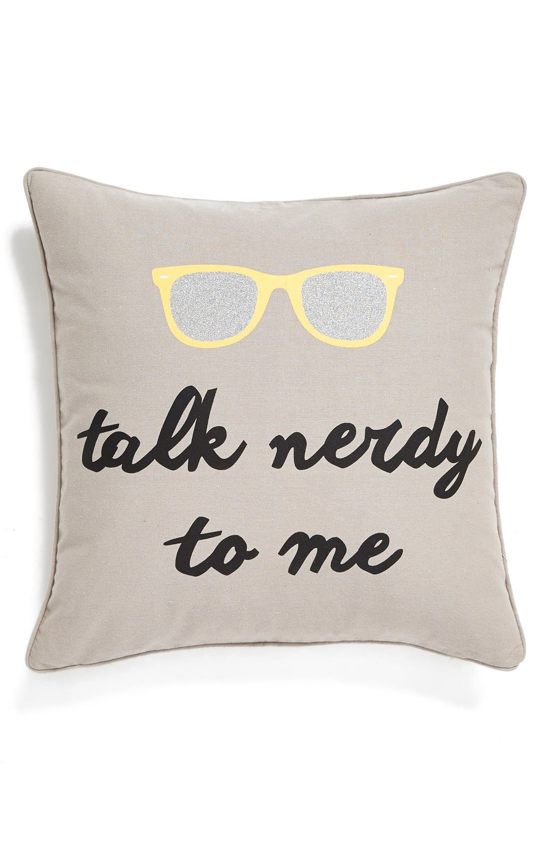 Alternate Image 1 Selected - Levtex'Talk Nerdy to Me' Pillow