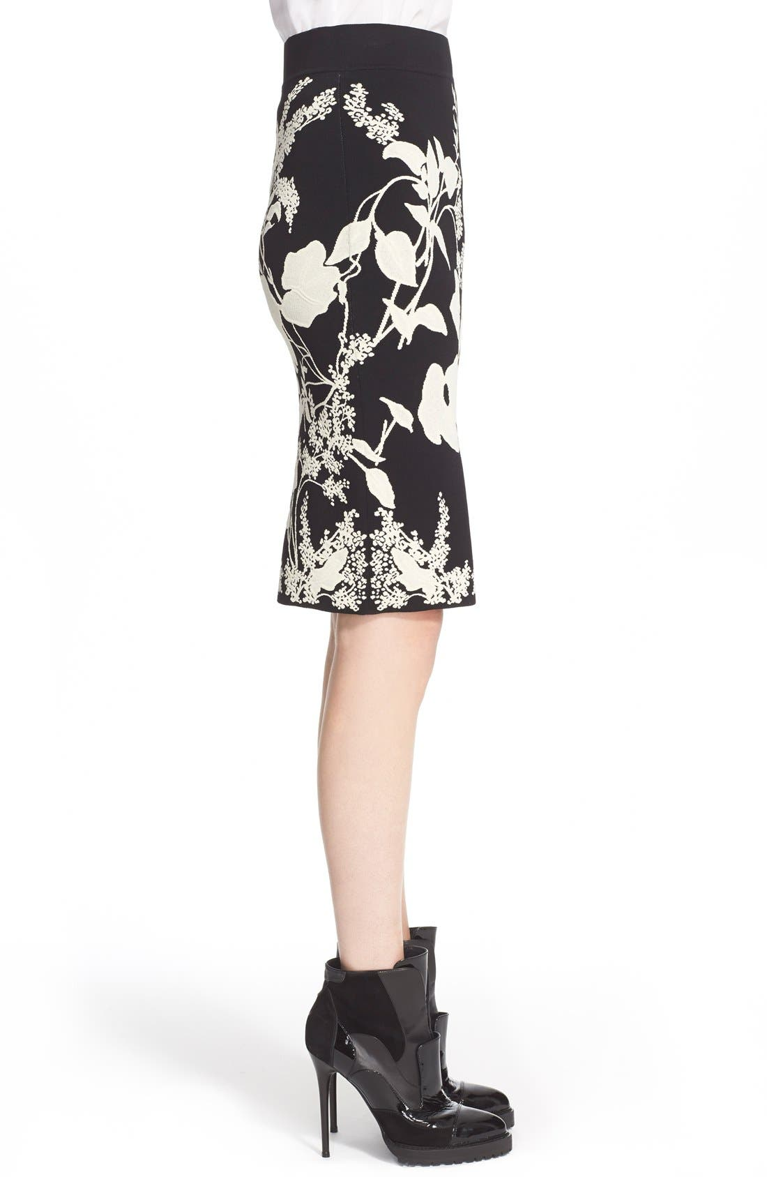 Alternate Image 4  - Alexander McQueen 'Belle Epoque' Floral Pattern Jacquard Pencil Skirt
